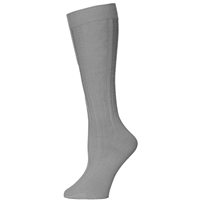 Medium Grey Cable Knit Knee-Hi Socks