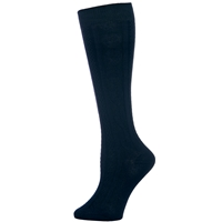 Navy Knee-Hi Cable Knit Sock