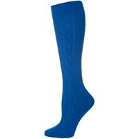 Mayfair Blue Cable Knit Knee-Hi Socks