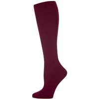 Wine Knee-Hi Cable Knit Sock