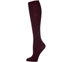 Wine Opaque Knee-Hi Socks
