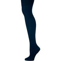 Navy Cable Knit Tights