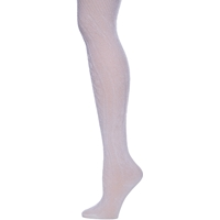White Cable Knit Tights