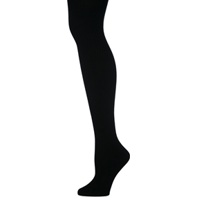 Black Heavy Weight Ribbed Tights