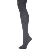 Heather Grey Heavy Weight Ribbed Tights