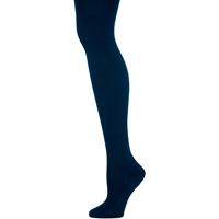 Navy Heavy Weight Ribbed Tights