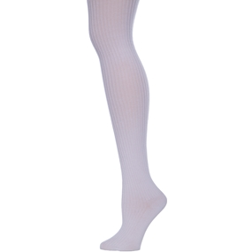 White Heavy Weight Ribbed Tights