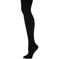 Black Microfiber Opaque Tights
