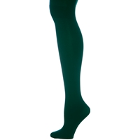 Hunter Green Microfiber Opaque Tights
