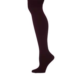 Maroon Microfiber Opaque Tights