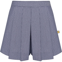 Navy & White Houndstooth Pleat Front Culotte