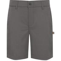 Grey Performance Flat Front Walk Shorts