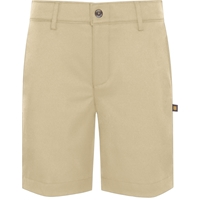 Khaki Performance Flat Front Walk Shorts