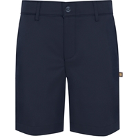 Navy Performance Flat Front Walk Shorts