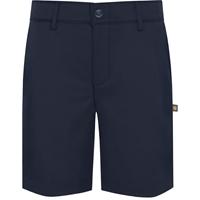 Navy Performance Flat Front Walk Shorts