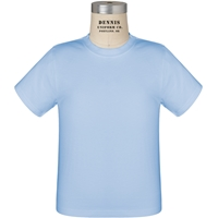 Light Blue 100% Cotton T-Shirt with School Logo