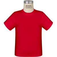Red 100% Cotton T-Shirt with School Logo