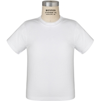 White 100% Cotton T-Shirt with School Logo