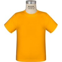 Gold 100% Cotton T-Shirt with School Logo