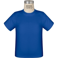 Royal 100% Cotton T-Shirt with School logo