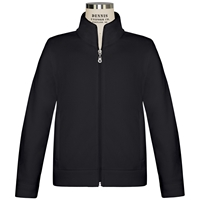 Black Microfleece Zip Front Jacket with School logo