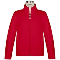 Red Zip-Up Microfleece Jacket with School Logo