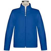 Royal Microfleece Zip Front Jacket with School logo