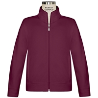 Burgundy Zip-Up Microfleece Jacket with School Logo