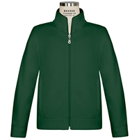 Green Microfleece Zip Front Jacket with School logo