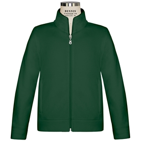Dark Green Zip-Up Microfleece Jacket