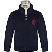 Navy Zip-Up Microfleece Jacket with Primrose logo
