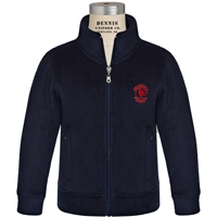 Navy Microfleece Zip Front Jacket with Primrose logo