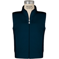 Navy Zip-Up Microfleece Vest with School logo