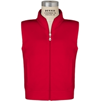 Red Zip-Up Microfleece Vest with School Logo