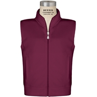 Burgundy Zip-Up Microfleece Vest