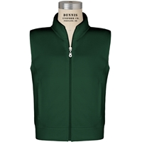 Green Zip-Up Microfleece Vest with School Logo