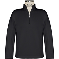 Black Quarter Zip Microfleece Pullover with School Logo