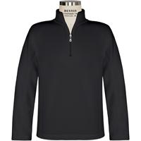 Black Quarter Zip Microfleece Pullover with School Logo