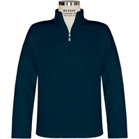 Navy Quarter Zip Microfleece Pullover with School Logo