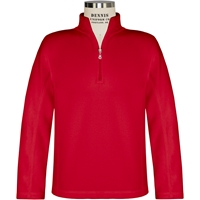 Red Quarter Zip Microfleece Pullover with School logo