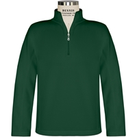 Green Quarter Zip Microfleece Pullover