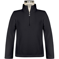 Black Girls Quarter Zip Microfleece with School Logo