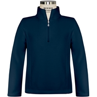 Navy Girls Quarter Zip Microfleece with School Logo