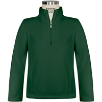 Green Girls Quarter Zip Microfleece