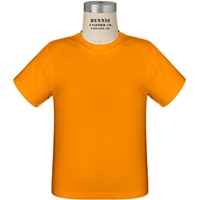 Orange 100% Cotton T-Shirt with School Logo