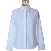 Blue Long Sleeve Girls Oxford Cloth Shirt