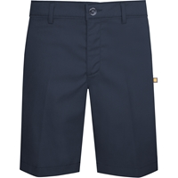 Navy Stretch Flat Front Walk Shorts
