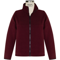 Wine Zip-Up Fleece Jacket with School Logo