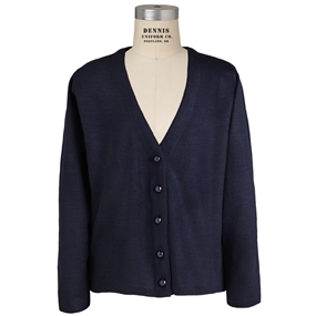 Navy V-Neck Cardigan Sweater