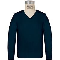Navy V-Neck Pullover Sweater